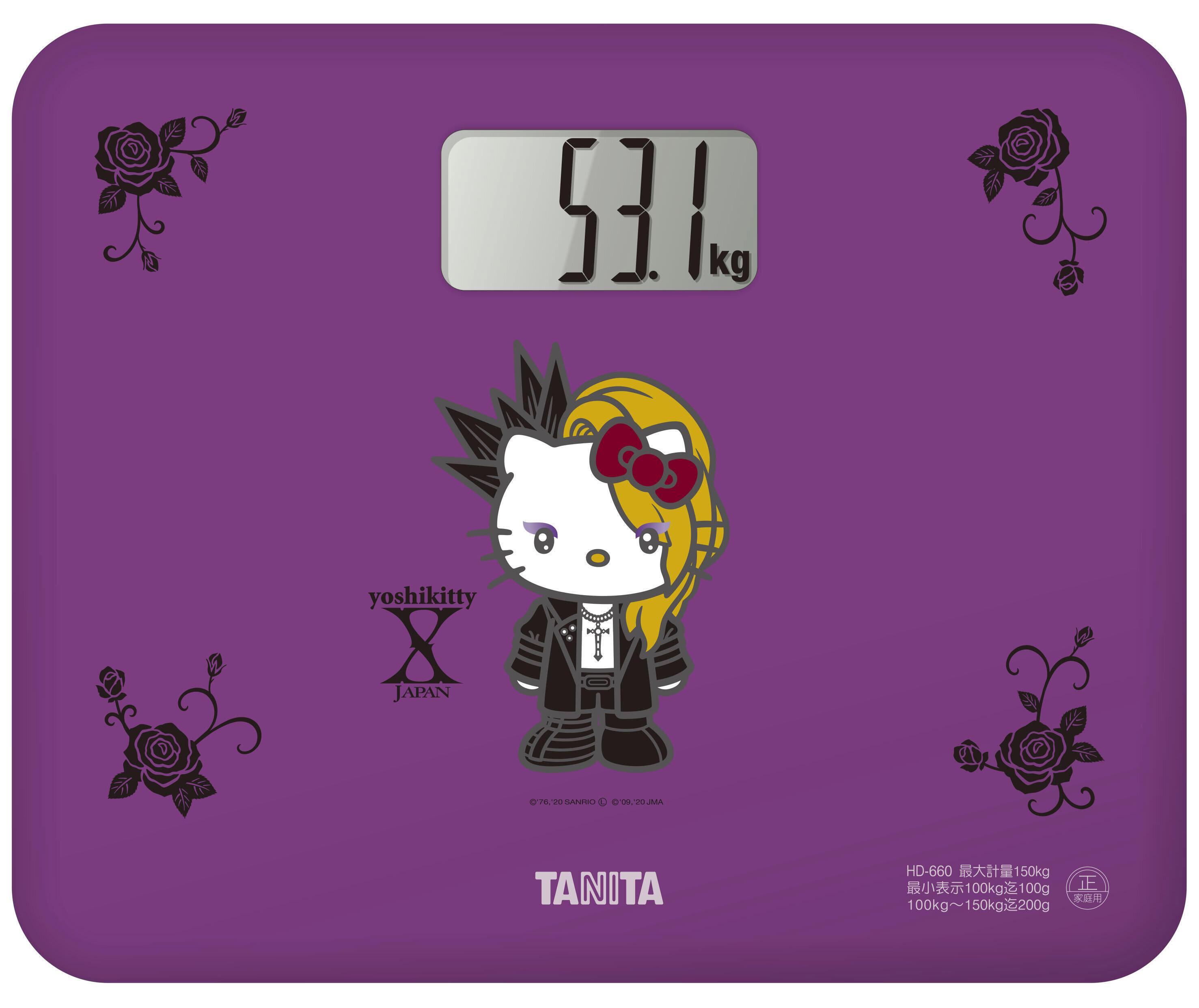 「X JAPAN」YOSHIKIとハローキティがコラボ 「yoshikitty」体重計