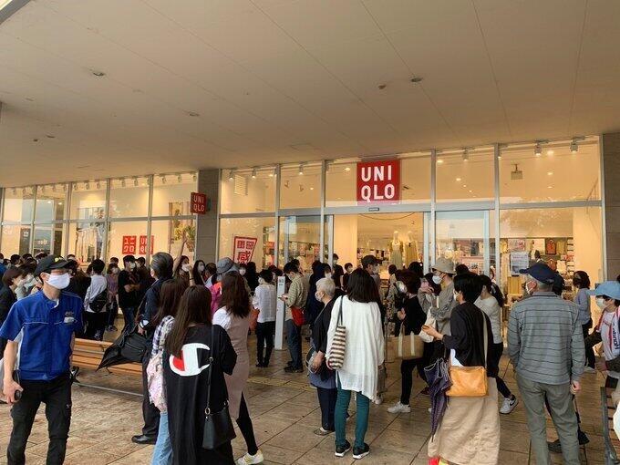 「エアリズムマスク」勝負は朝6時に決着した ユニクロ各店大行列、開店前に完売