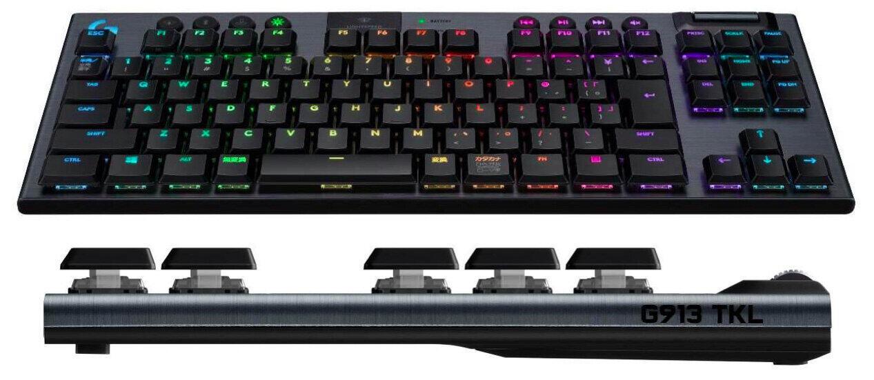 3種類のスイッチから選べるゲーミングキーボード  テンキーなしでコンパクト