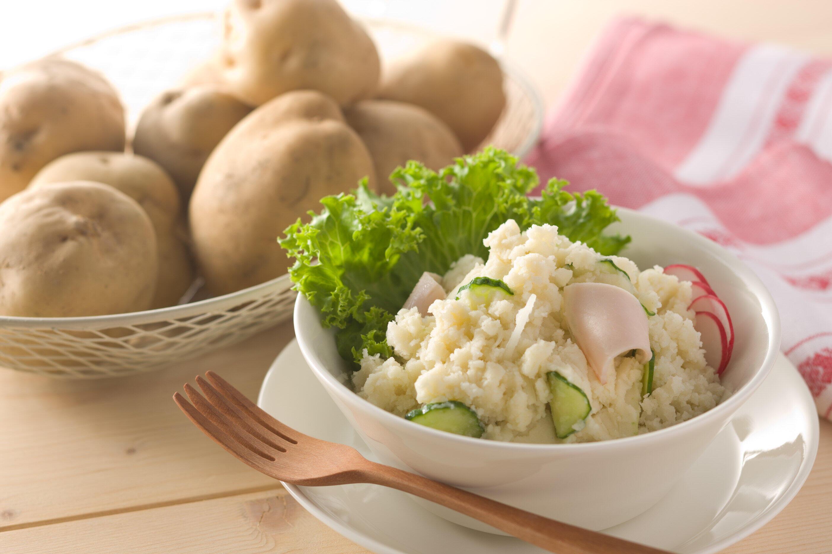「北海道じゃがマッシュプレーン」を使用したポテトサラダ