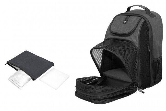 熱中症対策に アイスバッテリー搭載のペット用バックパック