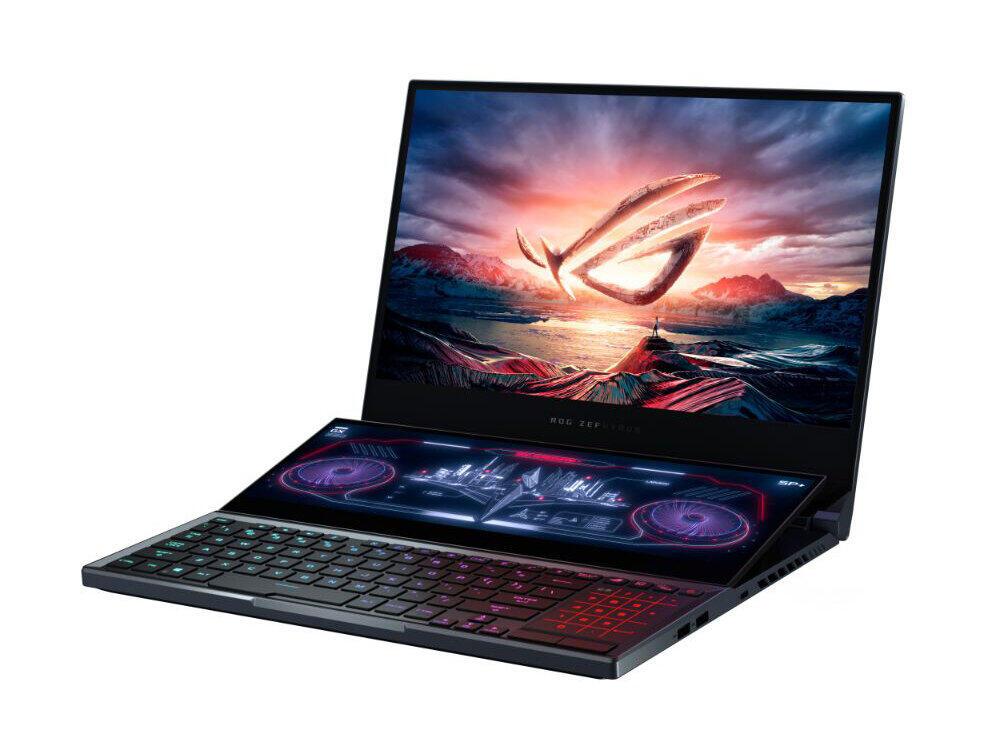 デュアルディスプレー ASUSのゲーミングノートパソコン