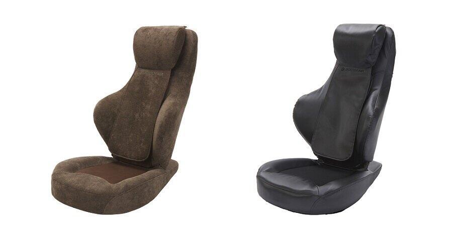 背もたれとヘッドレストに8個の「もみ玉」搭載 マッサージ機能を備えた座椅子
