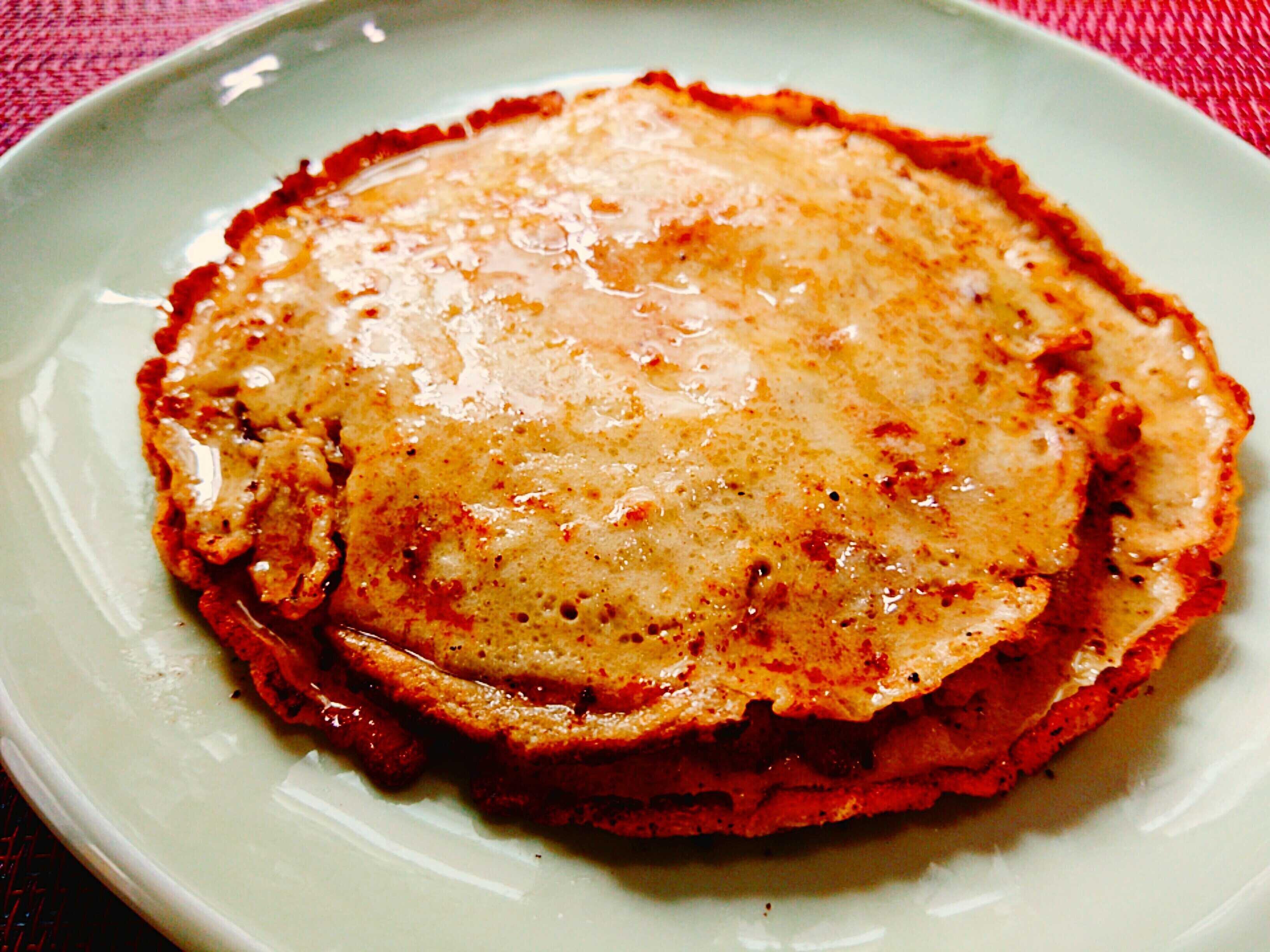 完成した大中小3枚のパンケーキ(写真7)