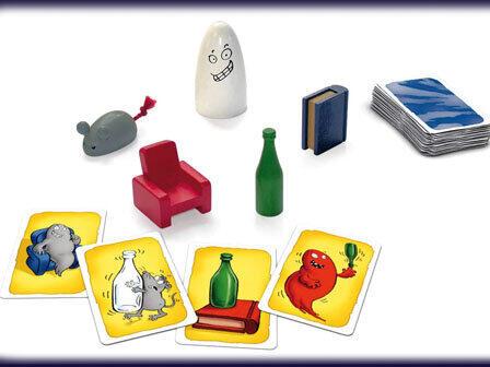 白いネズミと赤い本が描かれているカードの場合は「瓶」のコマを取るのが正解