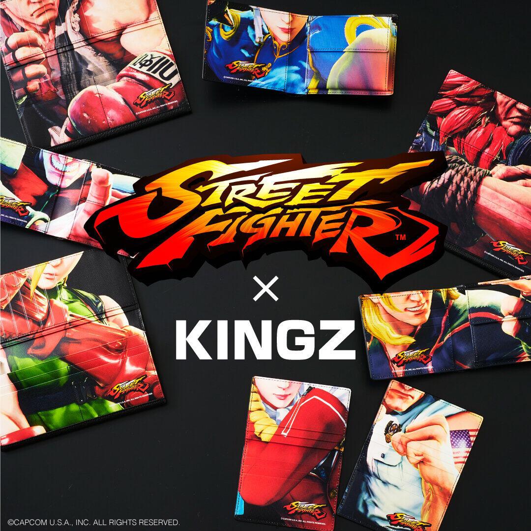 サマンサタバサの「KINGZ」と「ストリートファイターV」コラボ 財布やTシャツ