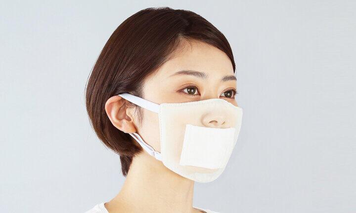 咳やくしゃみの音を軽減 綿とポリエステル使用の洗える「静音マスク」