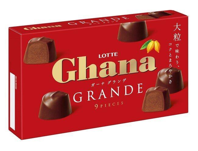 大粒でコク深いごほうびショコラ ロッテ「ガーナグランデ」