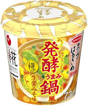 塩糀とみそのダブルの発酵食品 スープはるさめ「発酵うまみ鍋風生姜みそ味」