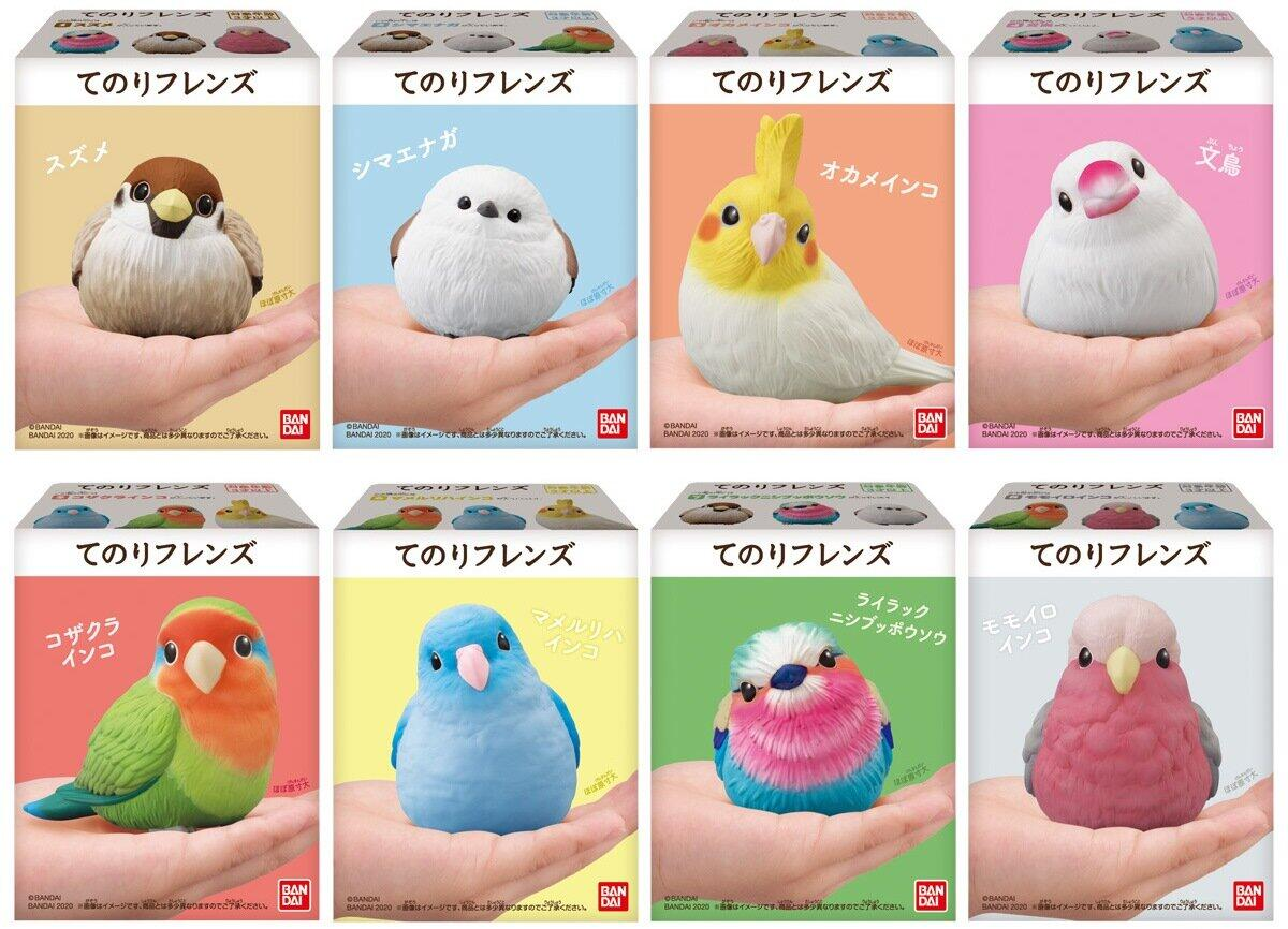かわいい小鳥がモチーフのソフビフィギュア食玩「てのりフレンズ」 「すずめ」や「文鳥」など全8種
