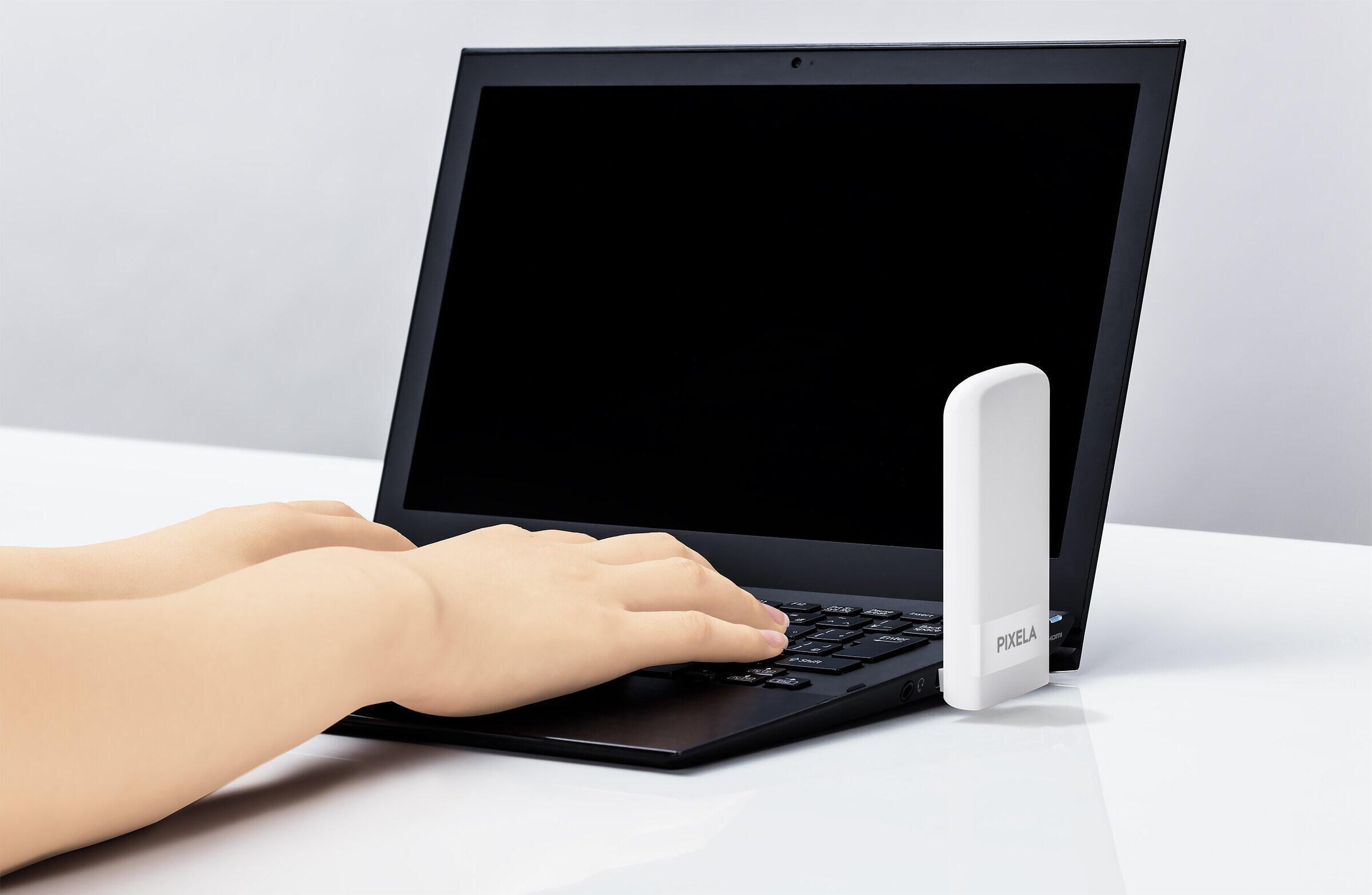 PCなどとUSB接続、LTE通信が可能になる USBドングル、ピクセラから