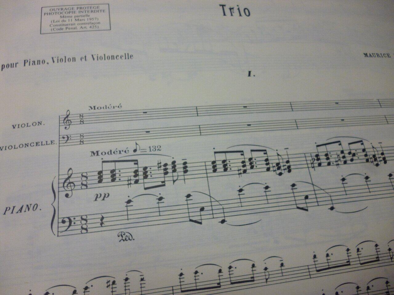 ラヴェルの1914年と「ピアノ三重奏曲」(後編)