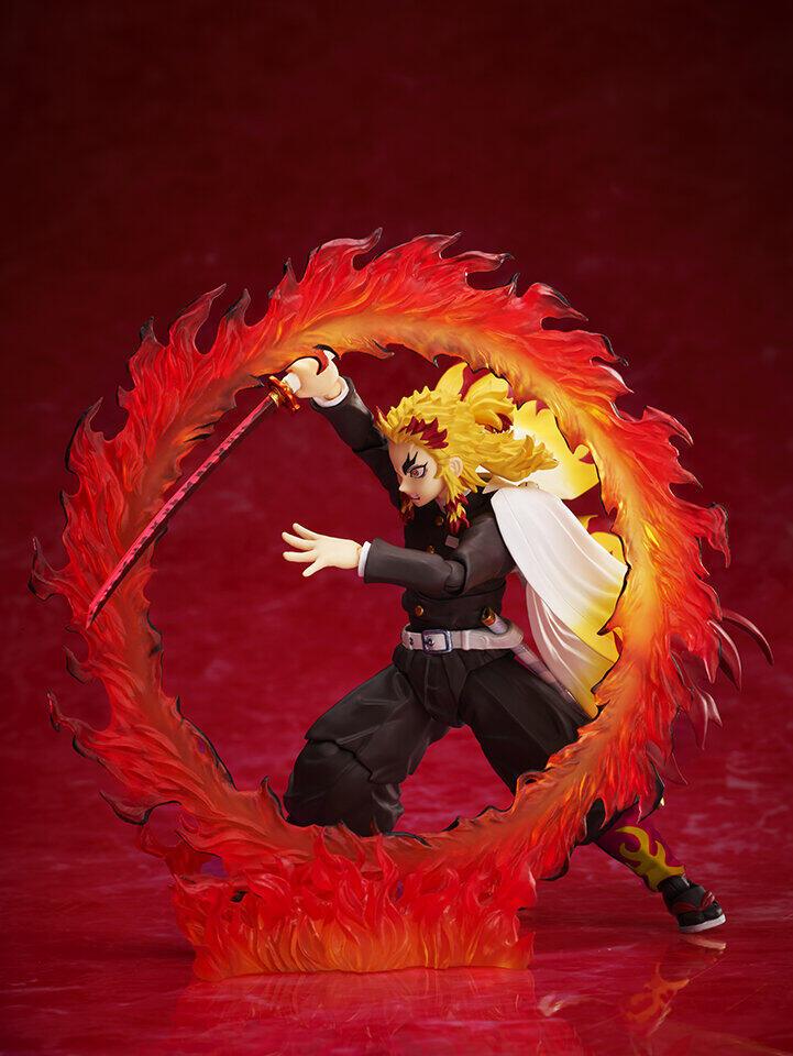 「鬼滅の刃」煉獄杏寿郎アクションフィギュア ほっこり笑顔から「炎の呼吸」シーン再現まで