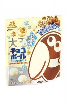 希少品「金のチョコ玉」もあるよ 冬らしい濃厚な「大玉チョコボール」
