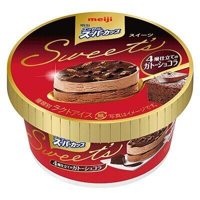 2種のアイスとチョコソース&クッキー 「4層仕立てのガトーショコラ」