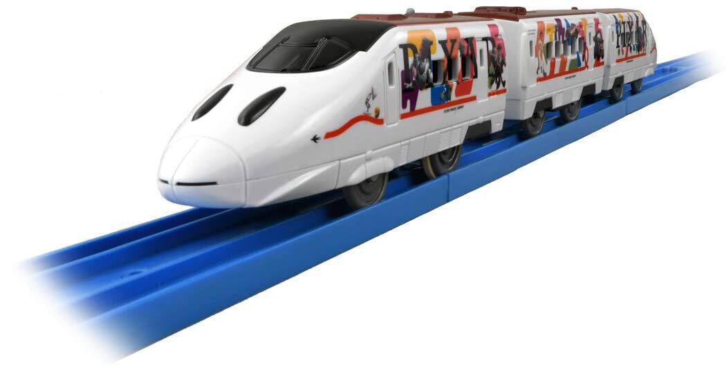 「トイ・ストーリー」などをラッピングした新幹線 鉄道玩具「プラレール」に