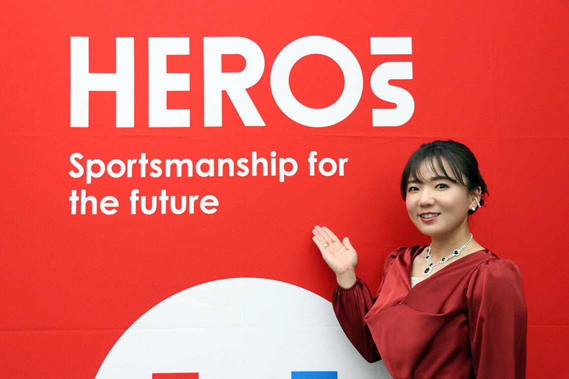 インタビュー当日、有村選手は「HEROs OF THE YEAR」の表彰式に出席した