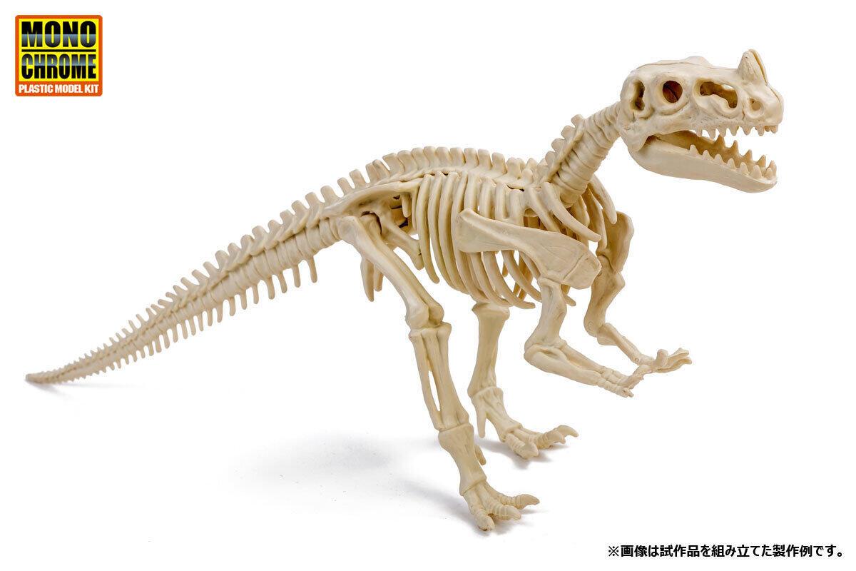 岩石から化石を発掘、組み立てる 全長約30センチの標本模型に「恐竜化石発掘モデル」
