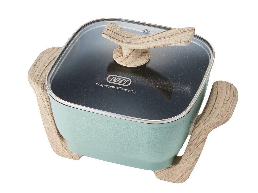 1台で煮る・焼く・蒸すなど多彩な調理 「Toffy コンパクトマルチ電気鍋」