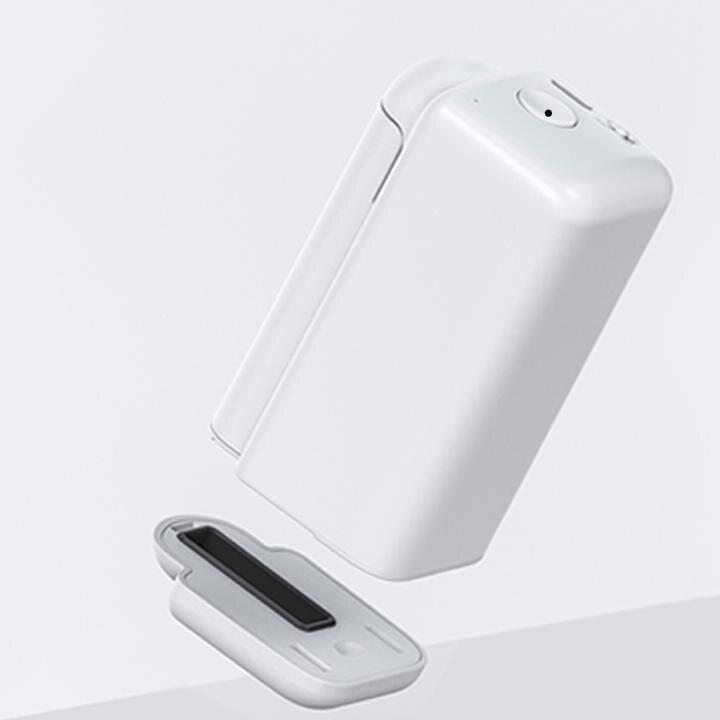 ハンコ型モバイルプリンター 肌や食材にも印刷可能、手のひらサイズ