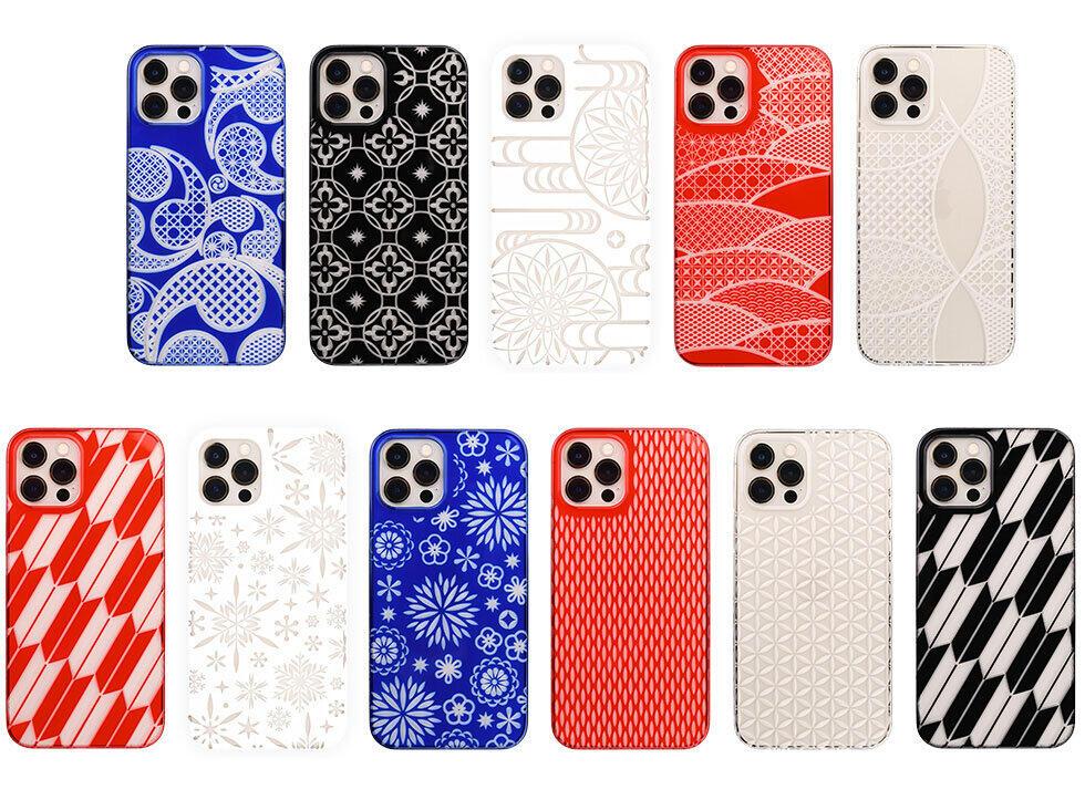 ガラス工芸「江戸切子」デザイン iPhone 12シリーズ向けケース