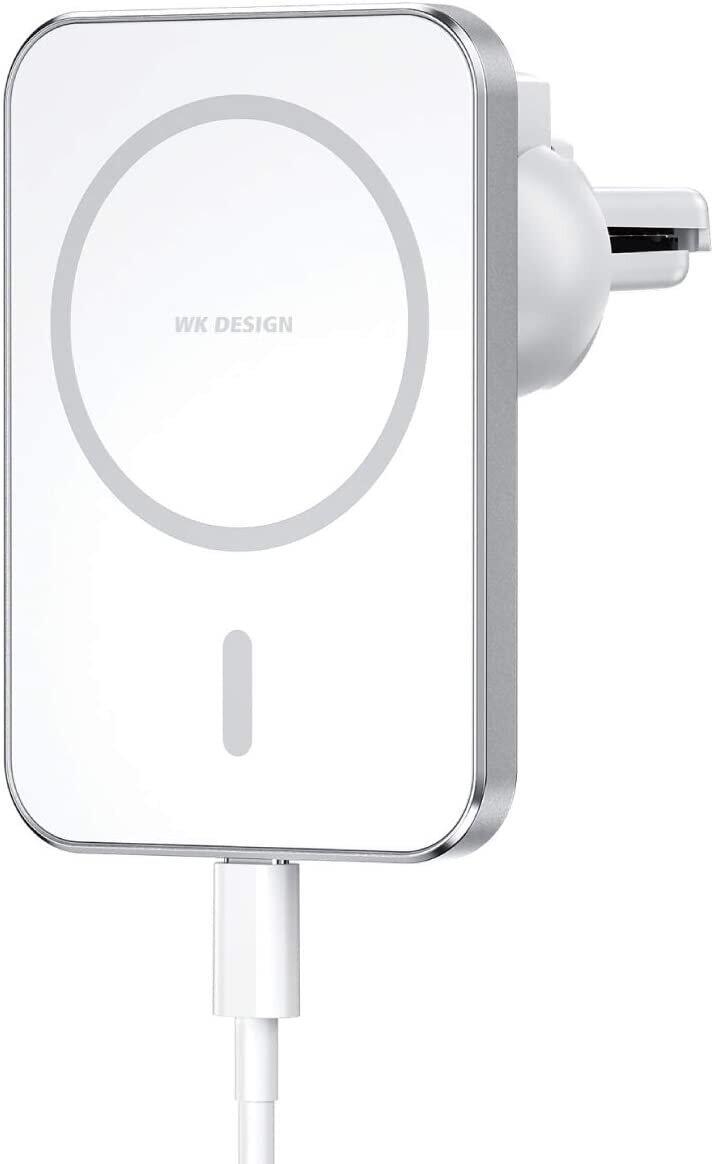 iPhone 12シリーズをマグネットで吸着 車載用ワイヤレス充電器