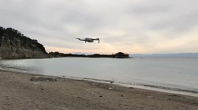 離陸した「DJI Mini 2」