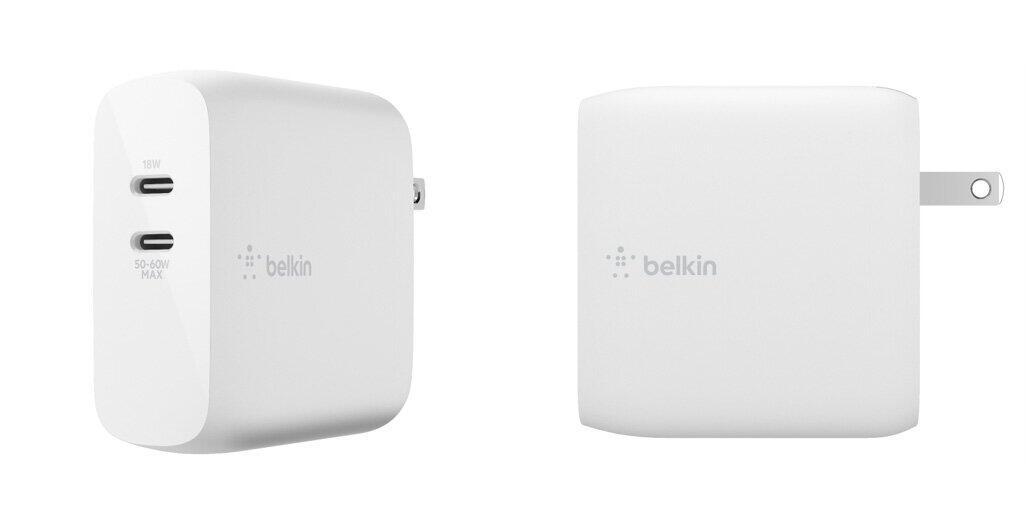 GaN採用、コンパクトながらパワフル ベルキンからUSB充電器