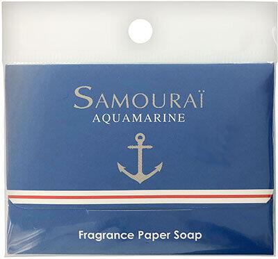 外出時に必須の紙せっけん 「サムライ アクアマリン」の香り