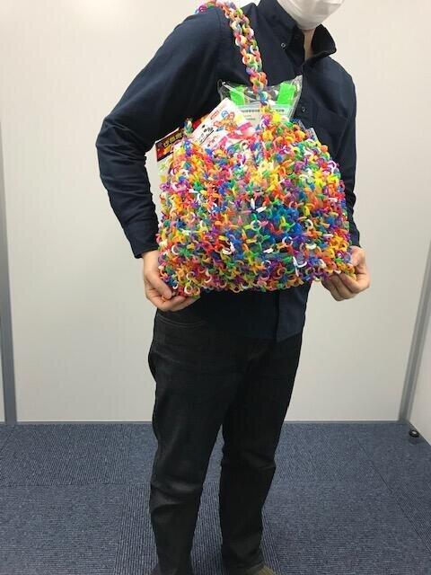成瀬さんがチエンリングで作ったバッグ