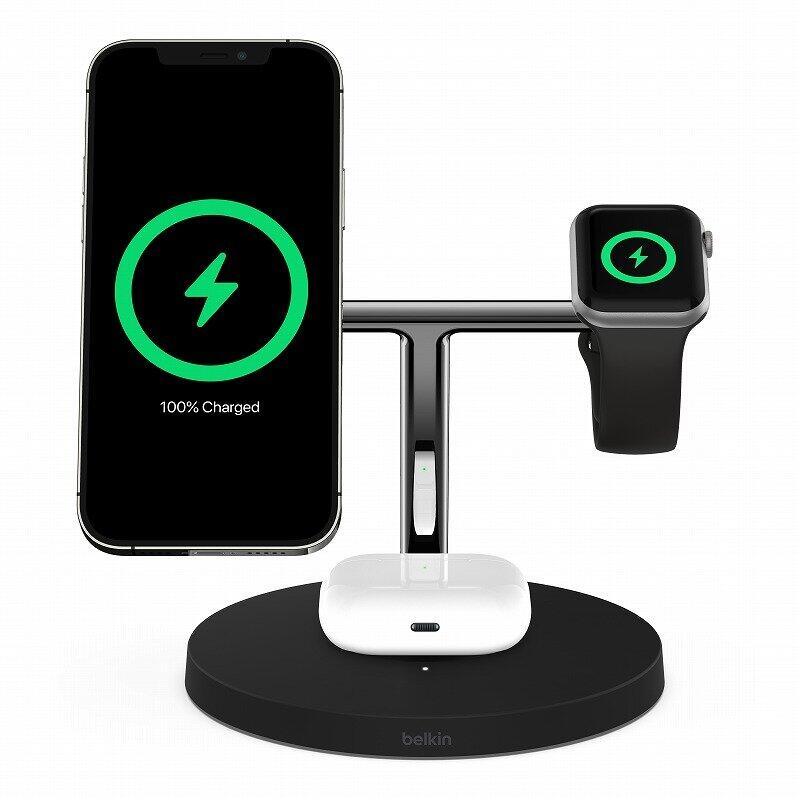 「ベルキン」iPhone 12シリーズ向けワイヤレス充電器 「MagSafe」対応2モデル