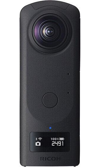リコーの最上位モデルカメラ、容量アップ 360度の静止画・動画を撮影できる