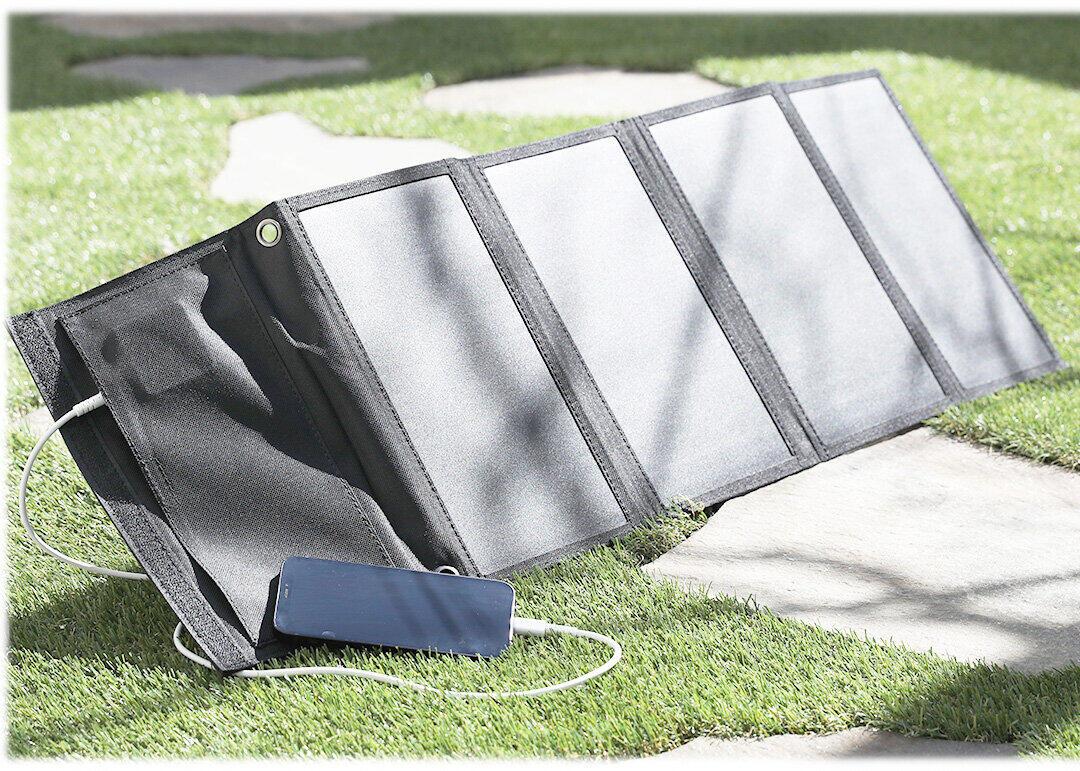 スマホ&タブレットに使えるソーラー充電器 アウトドアや災害時に