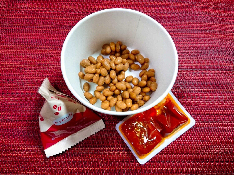「美納豆のデリ トマトソース」の中身