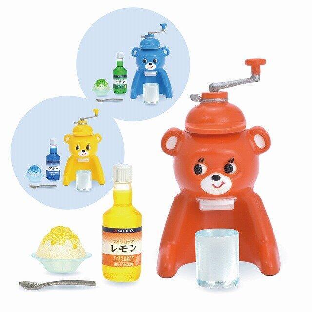 4種の「かき氷器」ミニチュアフィギュア 昭和レトロから電動式まで