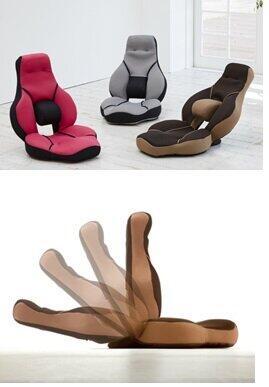 アシストギアで座りっぱなし疲れを防ぐ 「腰楽ストレッチ座椅子 グイッス」