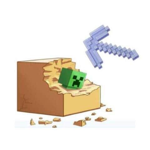 人気ゲーム「マインクラフト」がリアルに 「クリーパー」発掘できるキット