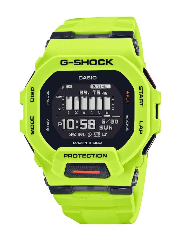 「G-SHOCK」からスポーツ向け「G-SQUAD GBD-200」登場 小型のスクエアデザイン