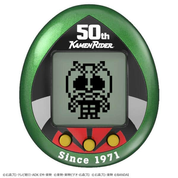50周年「仮面ライダー」&25周年「たまごっち」 「仮面ライダーっち」
