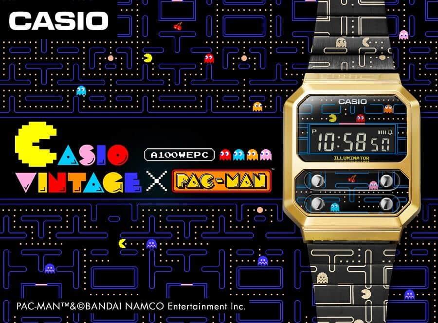 カシオ計算機から「パックマン」コラボモデル 名作ゲームの画面を再現