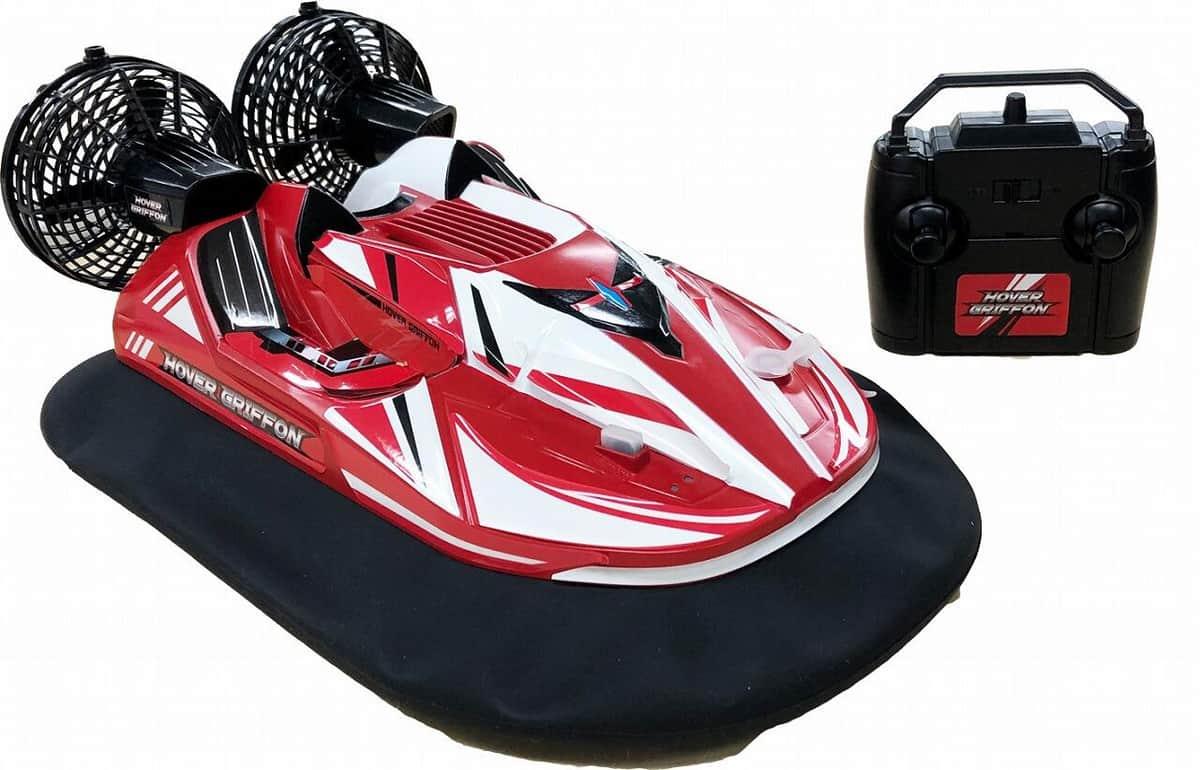 水陸両用、氷上や雪道も走れる ラジコンのホバークラフト