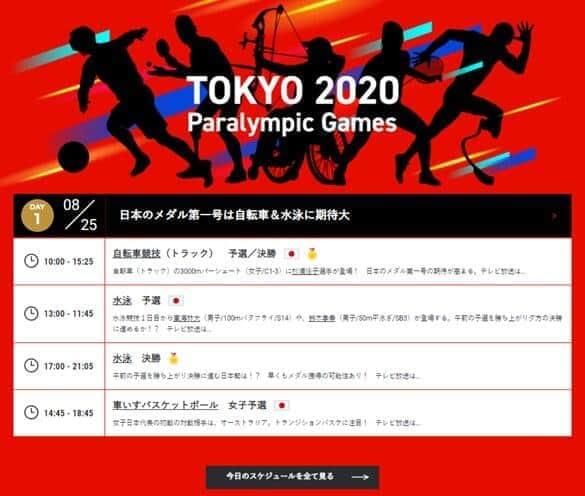 東京パラリンピックの総合サイトリニューアル 見どころ解説や応援キーワード検索