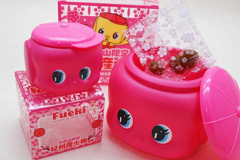 ピンクの「フエキくん」中身はのりじゃない 甘すぎずすっきり味の「小梅」が