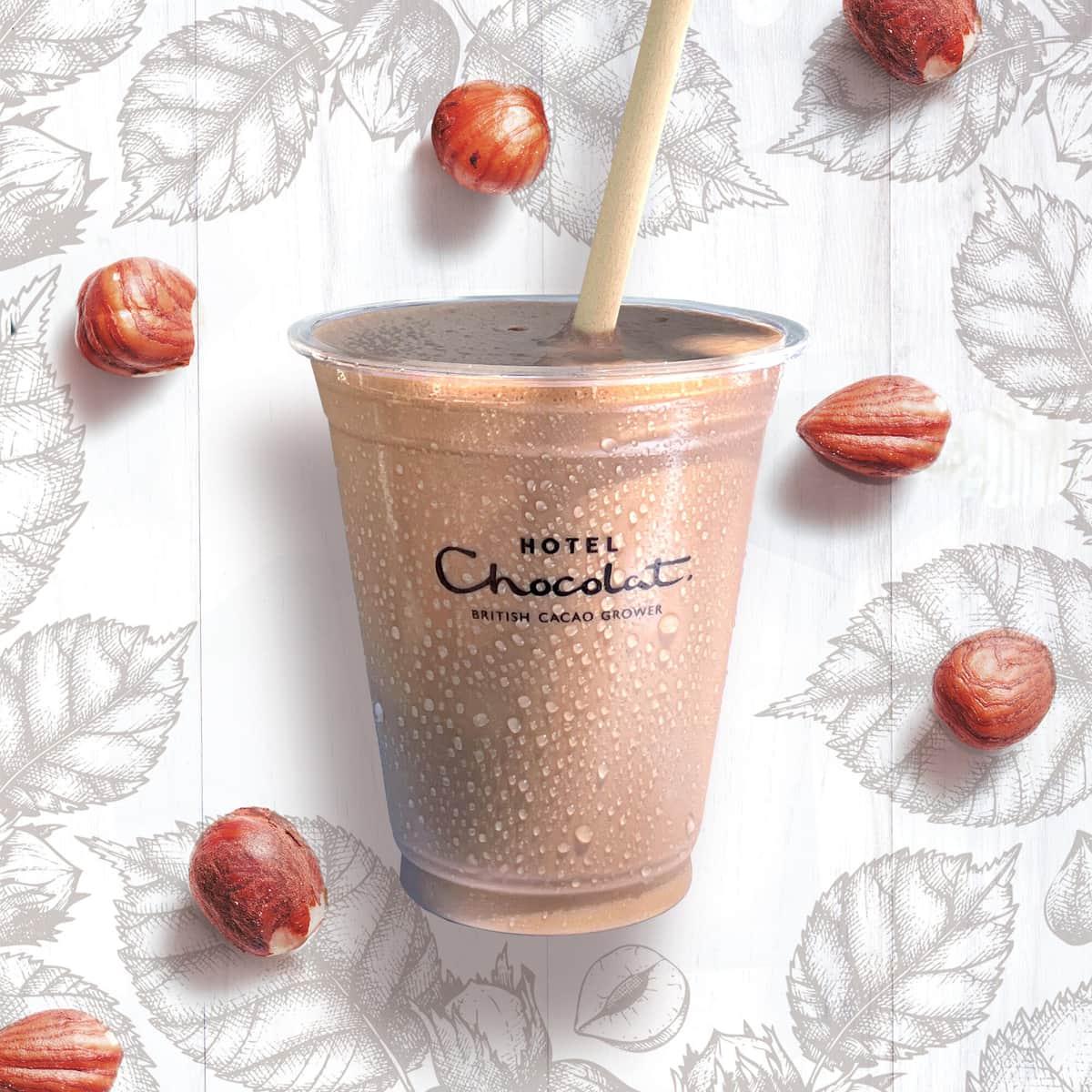 カカオ45%のナッツミルクのチョコレートドリンク