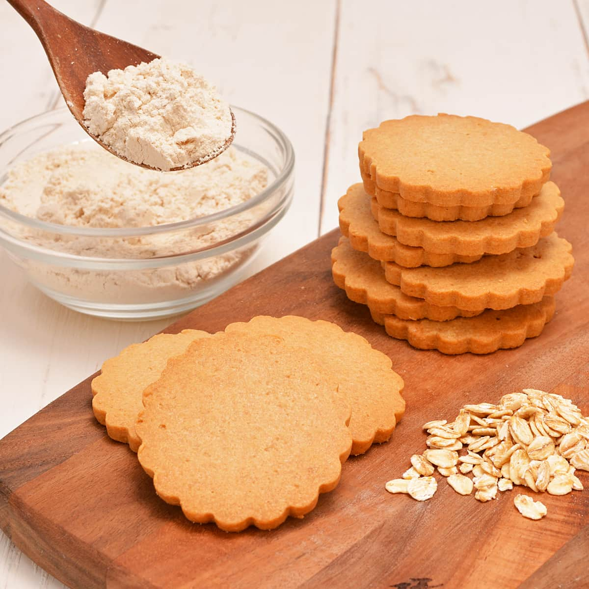 クッキーなどの焼き菓子に使っている小麦粉を、100%置き換えてもおいしい