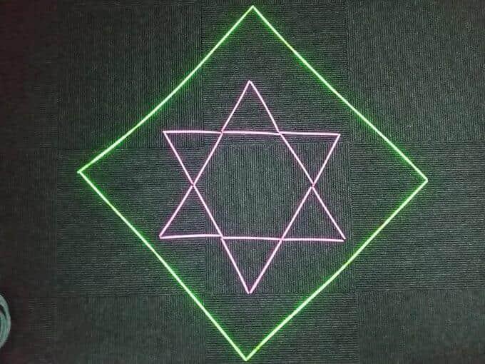 星を囲む図形は四角でなくとも良い(お好みで)