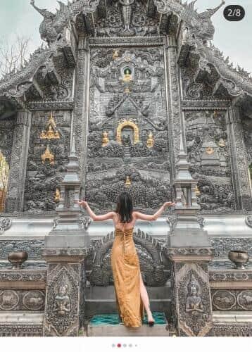 歴史のある寺院や神社は以前から「映え」スポットとして人気だった(REDの投稿より)