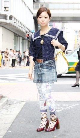 東京ファッション通信89 ~Scolarでゲットしたポップなレギンス