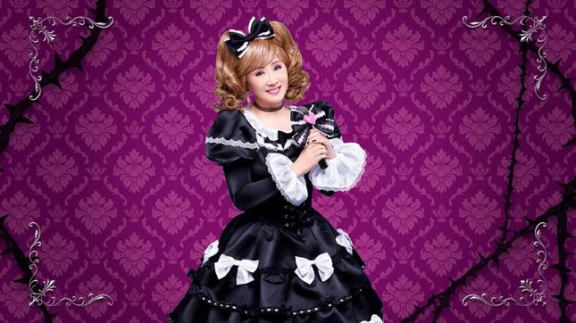 ゴスロリ衣装の小林幸子さん(「ゴシックは魔法乙女」のリリースより)