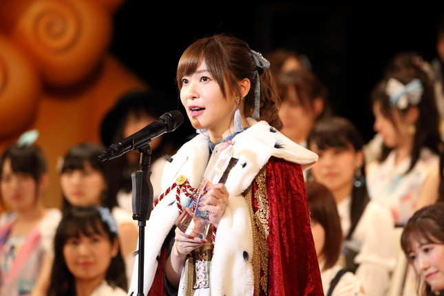 HKT48の指原莉乃は瀬戸内のSTU48も兼任している(2017年6月撮影)